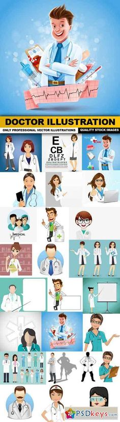 Doctor Illustration - 25 Vector