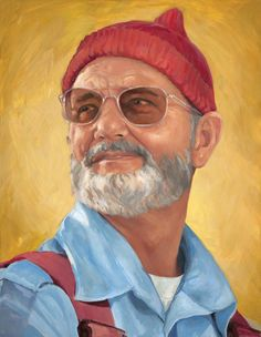 "Saatchi Online Artist: Heather McMillen; Oil, 2010, Painting Zissou! (or as I like to call it ""Bill F*cking Murray! (LOVE him))"