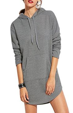 FLCH+YIGE Womens Relaxed Fit Casual Blouse Kangaroo Pocket Cowl Neck Pullover Sweatshirts