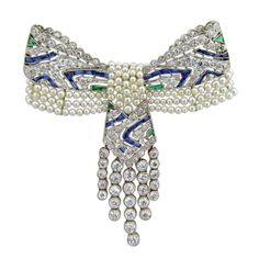 Exquisite Edwardian Bow Pendant Brooch, ca. 1910