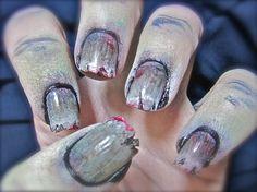 Zombie Nail Art Tutorial http://uhapibeauty.com/?s=zombie