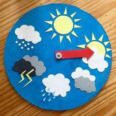 Toddler Learning Activities, Craft Activities For Kids, Classroom Activities, Preschool Activities, Teaching Kids, Crafts For Kids, Weather For Kids, Preschool Weather, Weather Crafts