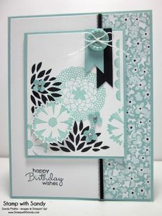 Blue is Stampin' Up's Pool Party --- Stamps: Petal Parade (Stampin' Up)