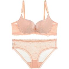 Womens Sheer Lace Patchwork Plain Bra and Panty Set Orange ($27) ❤ liked on Polyvore featuring intimates, panties, orange, panties lingerie, lingerie panty, sexy lingerie, sheer lace panties and sexy panties