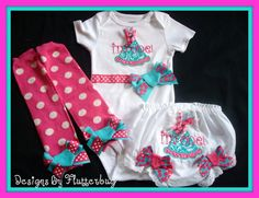 1ST BIRTHDAY Bodysuit Bloomers and Leg by Designsbyflutterbug, $44.95