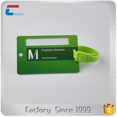 Customized printing folded luggage tag with custom plastic straps