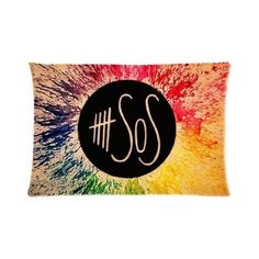 b4dac35166c Bedroom Decor Music Band 5 seconds of summer 5SOS Pillowcase Rectangle...  ( 17