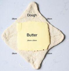 Butter dough graph Croissant Recipe, Croissant Dough, Homemade Croissants, Butter, Vegetarian Chocolate, Simple, Brunch Recipes, French, Breakfast