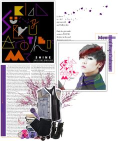 """""""Kim SungGyu, Another Me"""" by supercnfinite ❤ liked on Polyvore"""