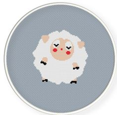 Cute sheep,Buy 4 get 1 free Cross stitch pattern PDFCute sheep by danceneedle, $4.00