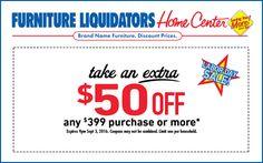 Furniture Liquidators Home Center Coupons