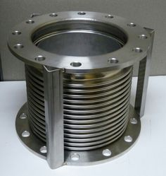 Stainless bellows. Supplied with wooden braces or if specified installation / shipping bars tacked on so they can be easily hand grinded off prior to use