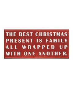 'The Best Christmas' Box Sign
