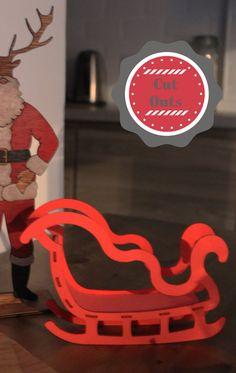 Santa Sleigh. Christmas Decoration by CutOutsMK on Etsy