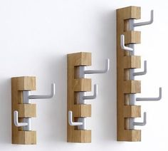 These simple coat hangers designed by Swedish designer J Lindvall for de Nord are simple, elegant and strong.