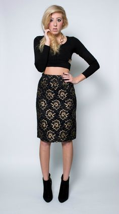 Red Rose Vintage - Baroque B*tch Skirt, $28.00 (http://www.redrosevintage.com/baroque-b-tch-skirt/)