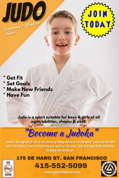 Judo youth poster