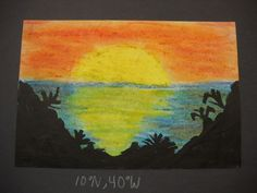 First week of school oil pastel seascapes I did in cunjunction with the social studies teachers for my 6th grade art class. They had to choose a tropical, arctic, or mediterranean location and find the coordinates, then do a seascape for that location. They're beautiful!!