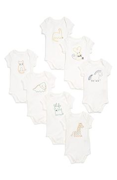 Stella McCartney Kids 'Sammie' Bodysuits (Set of 7) (Baby Girls) available at #Nordstrom