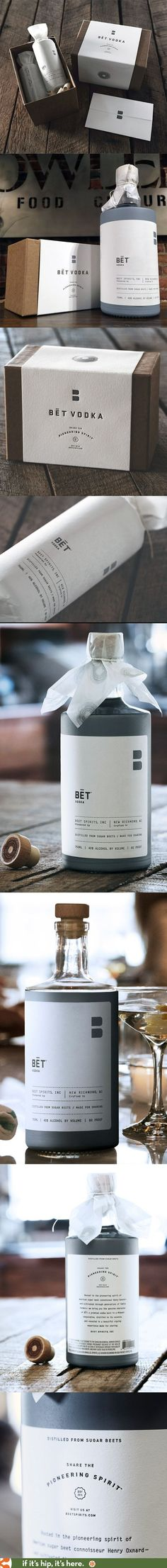 Beautiful package design and press kit for BĒT Vodka by Jillian Frey of KNOCK.