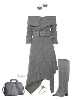 """""""Untitled #763"""" by mandyjeanb87 ❤ liked on Polyvore featuring Monse, Nine West, NAKAMOL and Jacquie Aiche Grey Gardens, Grey Outfit, Nine West, Polyvore, Outfits, Collection, Gray, Shopping, Image"""