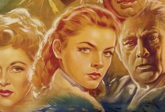 Movie Poster of the Week: The Illustrated Lauren Bacall on Notebook   MUBI Detail from an Italian Key Largo (John Huston, USA, 1948). Art by Luigi Martinati.