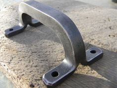 Single Split Handle with Hardware Forged by Strauss Design Studio, $60.00 https://www.facebook.com/StraussDesignStudio
