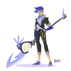 Here's a standalone redesign of Sailor Mercury I did last night during an art jam with cwilgreen and illustrated-process! You can see all 3 of our Magical Girl drawings HERE. Also it is HARD to make a harp into a weapon. JUST SAYING. Also go follow...