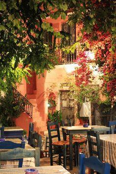 Travel Inspiration for Greece - The village square, Halki, Naxos, Greece