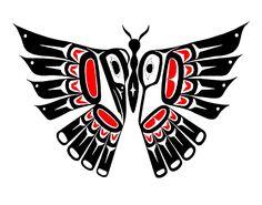 Canadian Art Prints and Winn Devon Art Group Inc. Native American Symbols, Native American Design, Native Design, Inuit Kunst, Inuit Art, Arte Haida, Haida Art, Kunst Der Aborigines, Butterfly Drawing