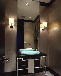 Contemporary Powder Room Small Vanity Mirror Design Pictures Remodel Decor