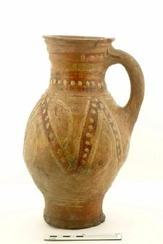 baluster jug Production date: Early Medieval; late century Measurements: H 298 mm; Ceramic Clay, Porcelain Ceramics, London Free Museums, English Pottery, Pottery Designs, Pots, Antique China, Sculpture, Ancient Artifacts