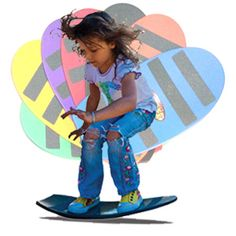 Spooner Board...just got one of these for each of my kids birthdays. Fun for play, balance improvement, and training for any board sport. Can be done in the house!