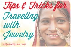 Jewelry can make the perfect accent piece for an otherwise dull travel outfit, so Caroline has put together some great traveling with jewelry tips. Her Packing List, Packing Tips, Jewelry Roll, Travel Jewelry, Ways To Travel, Travel Tips, Travel Hairstyles, Jewelry Insurance, Travel Themes