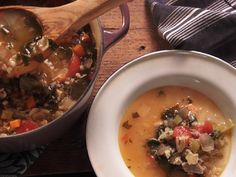 Chicken and Rice Soup recipe from Nancy Fuller via Food Network