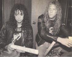 #Kirk Hammett #James Hetfield