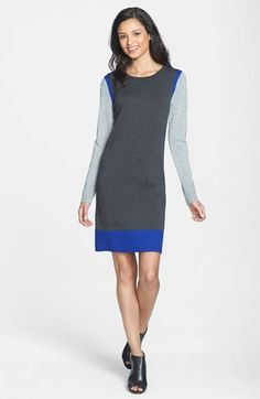 Eliza J Colorblock Sweater Dress | Nordstrom