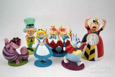 Popular ALICE IN WONDERLAND Cake Toppers Figure Play Set Online ...