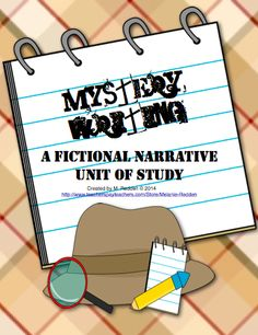 Mystery Writing: A Fictional Narrative Unit of Study Writing Courses, Writing Resources, Teaching Writing, Writing Tips, Education And Literacy, 4th Grade Classroom, Narrative Writing, Library Lessons, Writer Workshop