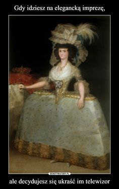 Maria Luisa of Parma wife of King Charles IV painted by Francisco Goya in currently in the Prado Museum, Madrid. Francisco Goya, Spanish Painters, Spanish Artists, Parma, 18th Century Costume, Court Dresses, 18th Century Fashion, 17th Century, Marie Antoinette