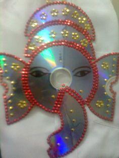 Image detail for -Maha Arts & Crafts: CD Ganesh / Vinayagar  cd craft awesome  mahagowri.blogspot.com