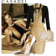 Shop - Casadei by ladymargaret on Polyvore featuring moda, Thierry Mugler, Moschino, Casadei, Chanel and Salvatore Ferragamo