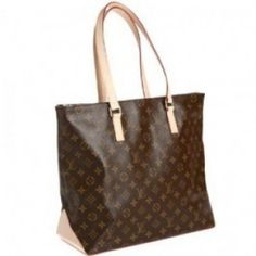 """Louis Vuitton Monogram Canvas Cabas Mezzo Brown M51152 Monogram canvas with natural cowhide trim and golden hardware; Zipped Top,Shoulder straps with an 8"""" drop; Leather bottom; Open top with brown canvas lining; Inside zipped pocket,D-ring,and cell-phone holder.  15"""" x 22"""""""