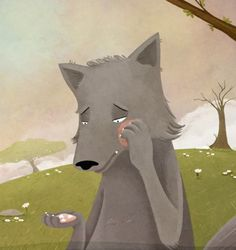 Fables: The Donkey and The Wolf - Victoria Assanelli #wolf #donkey #childrensbook #illustration #victoriaassanelli