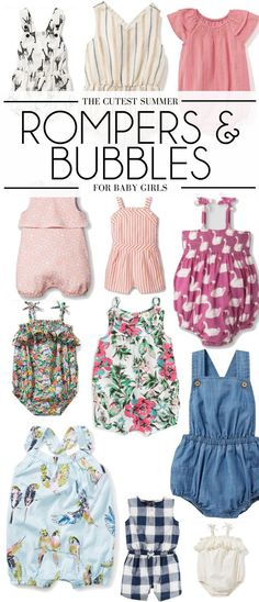 these are the cutest rompers for baby girls - baby girls outfits for summer