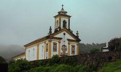 Igreja de Nossa Senhora das Mercês em Ouro Preto, Minas Gerais...