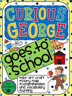 Curious George is up to more mischief in this cute little unit!  You can use it right before an Open House or to start your school year by reading Margaret and H.A. Reys Curious George goes to School.George and the man with the Yellow Hat are on their way to an Open House at school.