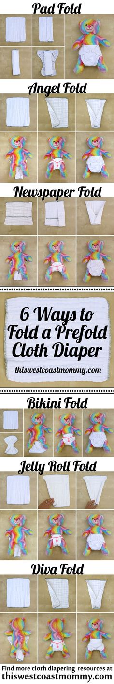 In this cloth diaper tutorial, I show you how to fold a prefold cloth diaper 6 different ways, with tips and recommendations for each.