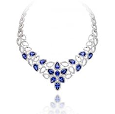 Crown Collection - Picchiotti Diamond & Sapphire Necklace