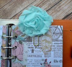 Planner Clip Paper Clip Flower Clip Flower by FaithAndOliver